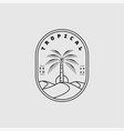 tropical logo design inspiration vector image vector image