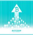upward growth bitcoin concept design with arrow vector image