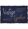 vintage typeface handwritten font vector image