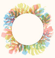 watercolor tropical palm leaf frame vector image vector image