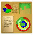 with charts and graphs for infographics template vector image