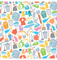background pattern with laundry and cleaning icons vector image