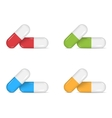 Colorful pill set vector image