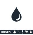 Drop icon flat vector image