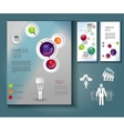 layout of brochures and flyers vector image
