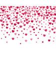 confetti hearts background vector image