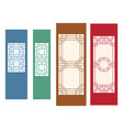 korean ornament for wall and window in flat vector image