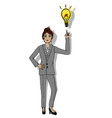 a hand drawn business woman vector image vector image