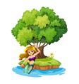 A mermaid in an island vector image vector image