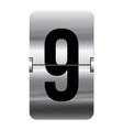 Alphabet silver flipboard letters 9 vector image