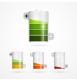 Battery Icon Battery Life Set Isolated on White vector image vector image