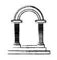 beautiful romantic arc door element for your vector image vector image