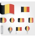 Belgium flag icon set vector image vector image