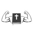 bible arm bicep strong symbol christianity vector image vector image