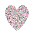 big heart shape filled with hearts vector image