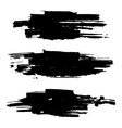 brush stroke collection grunge vector image vector image
