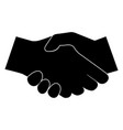 business handshake the black color icon vector image vector image