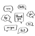 calligraphy speech bubbles vector image vector image