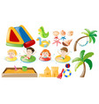children swimming and beach toys vector image vector image