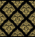 classic seamless black and golden pattern vector image vector image