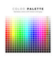 colorful palette set bright colors rainbow vector image vector image