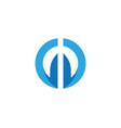 d letter logo design vector image