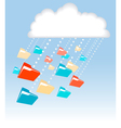 digital cloud vector image