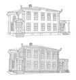 drawing the house where vladimir ulyanov lived vector image