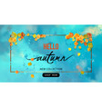 fall banner vector image vector image