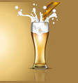 filling beer in glasses vector image