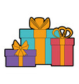 gifts boxes presents icon vector image vector image