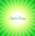 green sunburst background vector image vector image