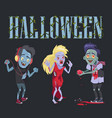 halloween funny poster on vector image vector image