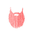 Hand drawn scribble Beard isolated on white
