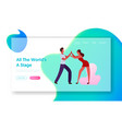 happy leisure and hobby sparetime website landing vector image
