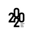 happy new year 2020 text design logo vector image vector image