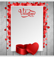 happy valentine day background with heart vector image