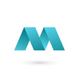 letter m logo icon design template elements vector image vector image