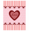 Love Valentines day vector image vector image