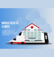 mobile health clinics concept design template vector image vector image