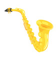 music instrument - saxophone vector image vector image
