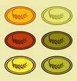 olive branch wheat branch logo colorful vector image