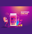 online shopping flat concept modern vector image