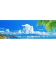 Panorama of tropical sea coast vector image vector image