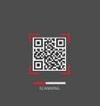 qr code scanning vector image