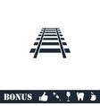 Railway icon flat vector image vector image