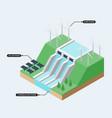 renewable energy concept infographics flat design vector image