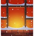 Retro Window in Snow vector image