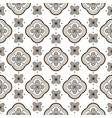 seamless geometric rosette pattern vector image vector image