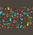 seamless pattern of pizza vector image vector image
